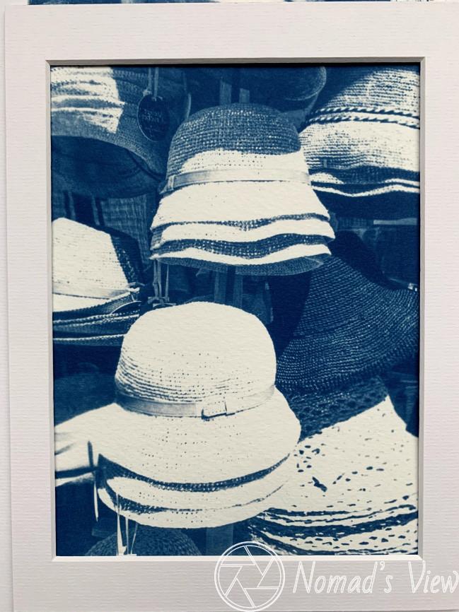Hats, Avignon (Cyano blue print)