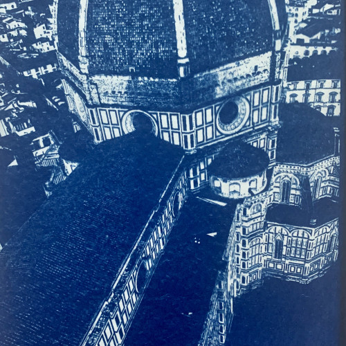 Cathedrale, Florence (Cyano blue print)